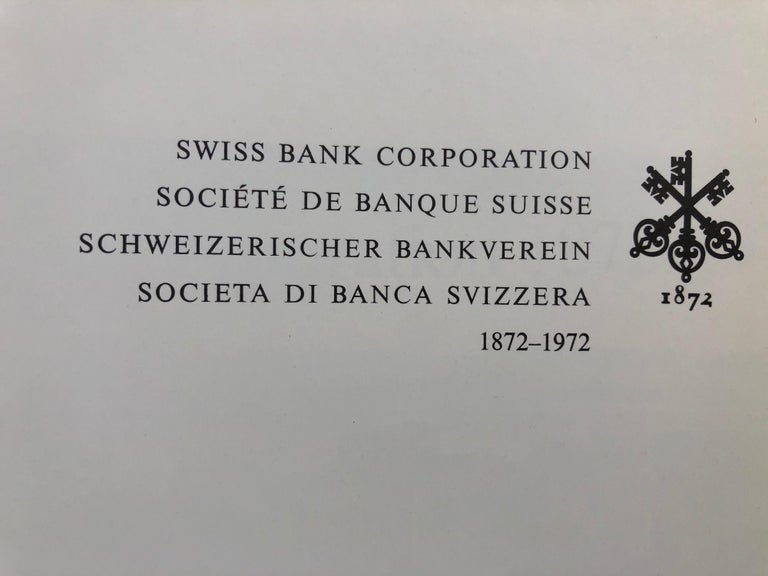 Mid-Century Modern Swiss Bank Corporation 1872-1972 by Hans Bauer For Sale