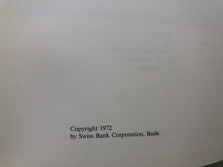 Swiss Bank Corporation 1872-1972 by Hans Bauer For Sale 4