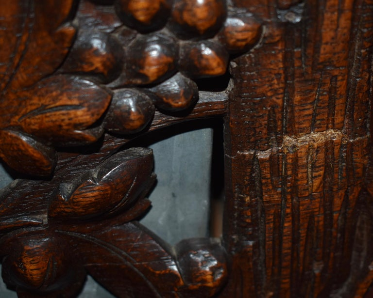 Swiss Black Forest Carved Wooden Planter Box/Jardinière, circa 1880 For Sale 6