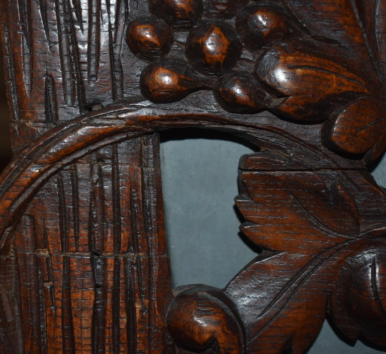 Swiss Black Forest Carved Wooden Planter Box/Jardinière, circa 1880 For Sale 8