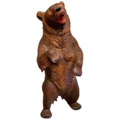 Swiss Black Forest Standing Bear