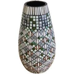 Swiss Ceramic Mosaic Vase by Rössler