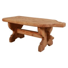 Swiss Cheese Makers Pine Coffee Table