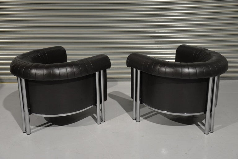 Swiss De Sede Executive Lounge Armchairs, Switzerland 1980s For Sale