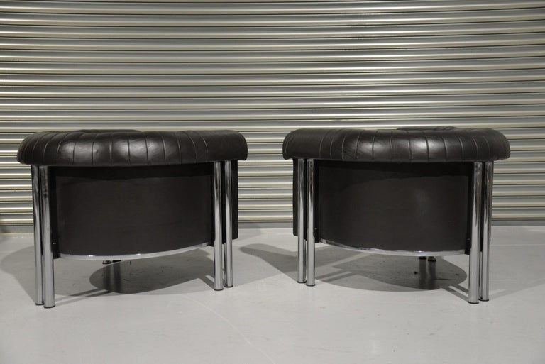 De Sede Executive Lounge Armchairs, Switzerland 1980s In Good Condition For Sale In Fen Drayton, Cambridgeshire