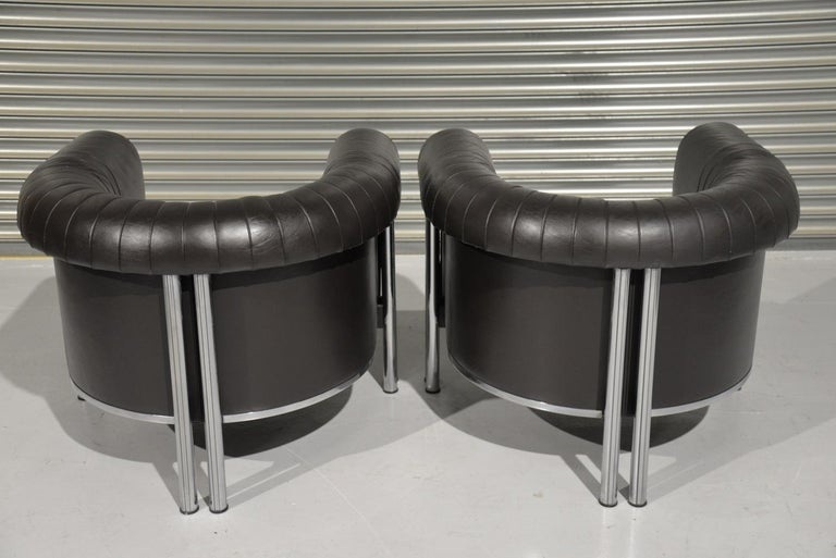 Late 20th Century De Sede Executive Lounge Armchairs, Switzerland 1980s For Sale