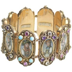 Swiss Enamelled Cantons Bracelet