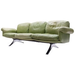 Swiss Green 3-Seat Model DS31 Sofa from De Sede, 1960s