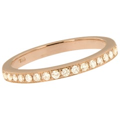 Swiss Made 18 Karat Rose Gold and Diamond Band
