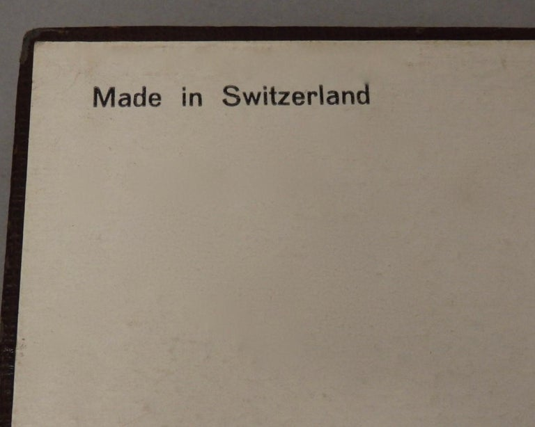 Swiss Made Machined Brass Desk Dresser Top Tri-Fold Picture Frames For Sale 4