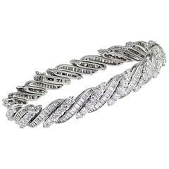 Swiss Made Platinum Diamond Bracelet