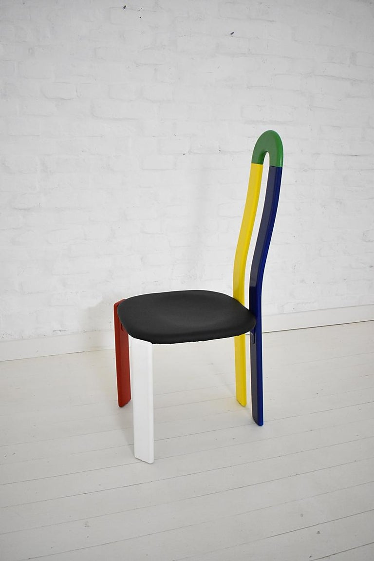 Modern Swiss Made Unique High-Backed Chair by Bruno Rey for Dietiker, 1970s For Sale
