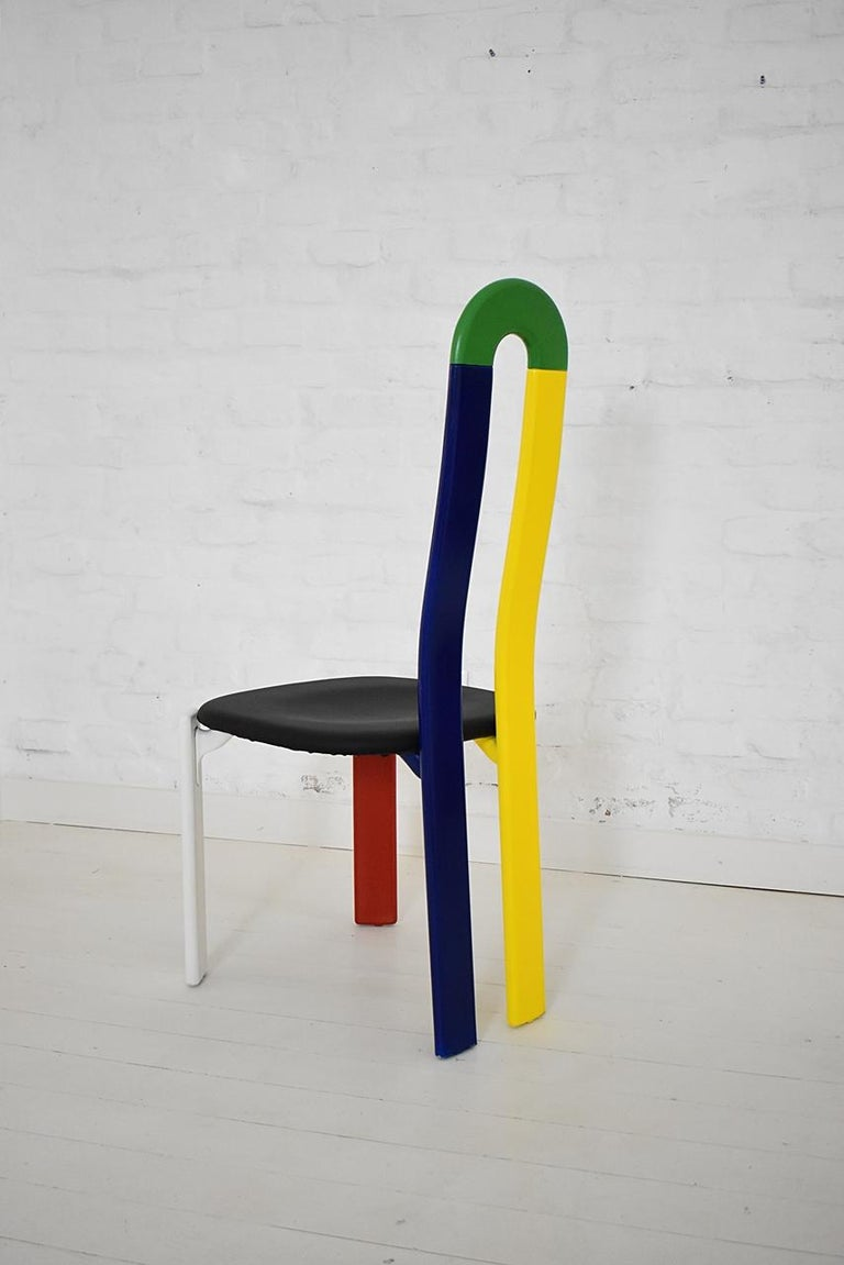 Swiss Made Unique High-Backed Chair by Bruno Rey for Dietiker, 1970s In Good Condition For Sale In Debrecen-Pallag, HU