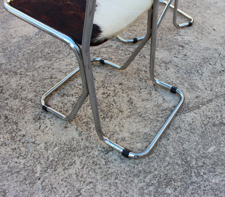 Swiss Mid-Century Modern Set of 6 Chairs For Sale 2