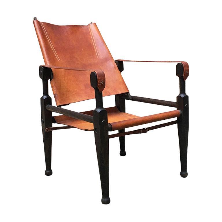 Swiss Mid-Century Safari Chair by Wilhelm Kienzle for Wohnbedarf, 1930s