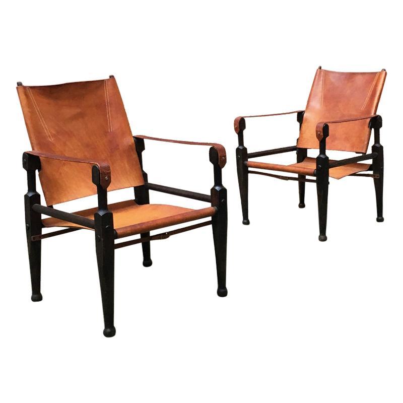 Swiss Mid-Century Safari Chairs by Wilhelm Kienzle for Wohnbedarf, 1930s