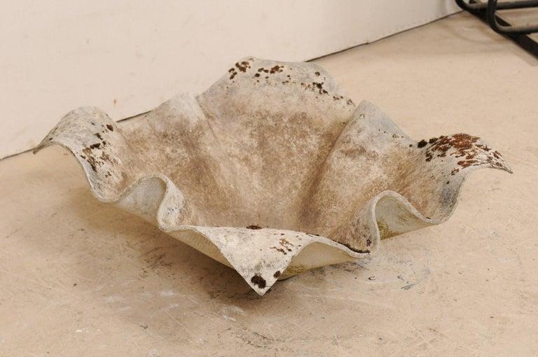 Swiss Midcentury Willy Guhl Handkerchief Sculptural Planter, Indoor/Outdoor In Good Condition For Sale In Atlanta, GA
