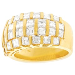Swiss Modern Seventies Diamond-Set Gold Ring