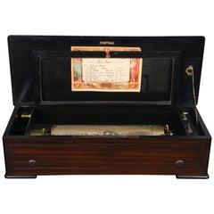 Swiss Music Wood Box