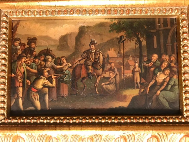 Swiss Oil Painting of the Legend of William Tell For Sale 4