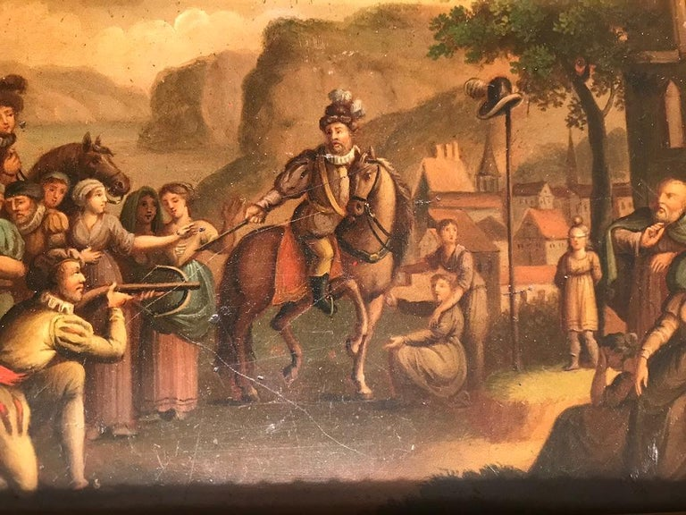 Swiss Oil Painting of the Legend of William Tell For Sale 5