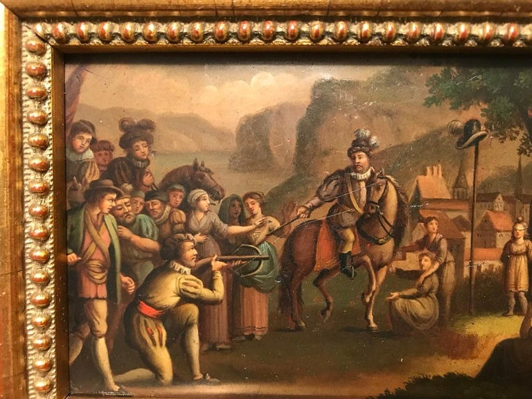 Swiss Oil Painting of the Legend of William Tell For Sale 6