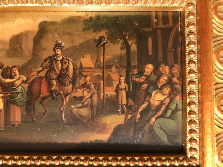 Swiss Oil Painting of the Legend of William Tell For Sale 7