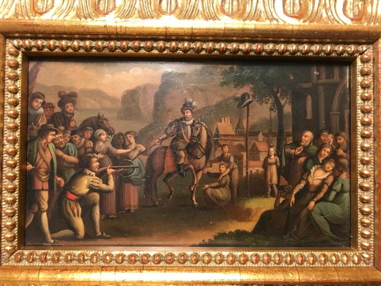 Swiss Oil Painting of the Legend of William Tell For Sale 8