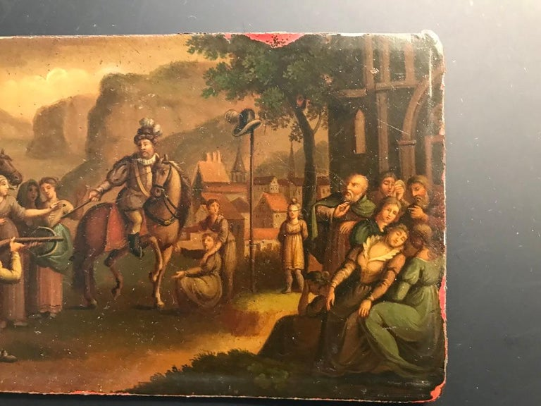 Romantic Swiss Oil Painting of the Legend of William Tell For Sale