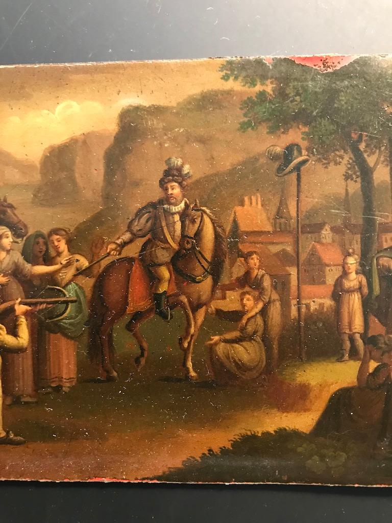 19th Century Swiss Oil Painting of the Legend of William Tell For Sale