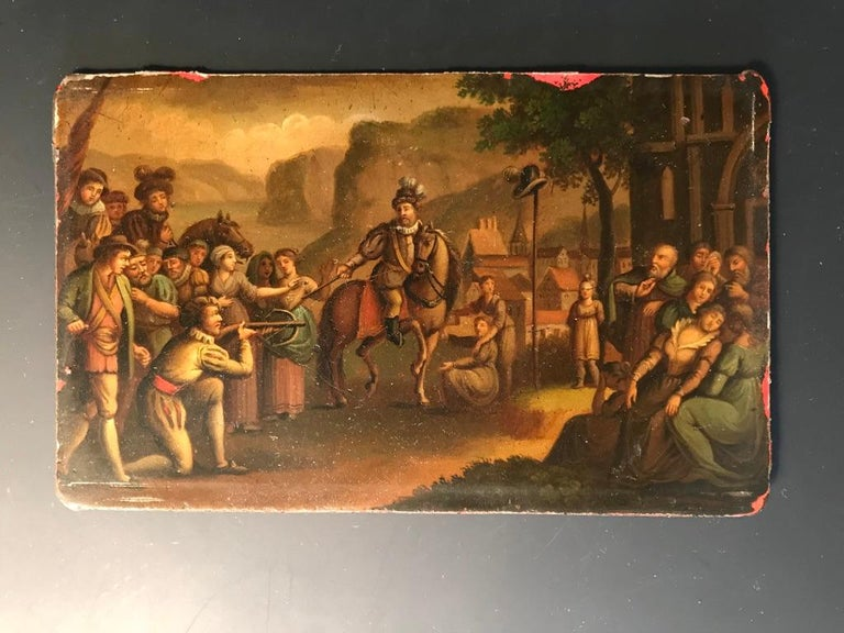 Swiss Oil Painting of the Legend of William Tell For Sale 2