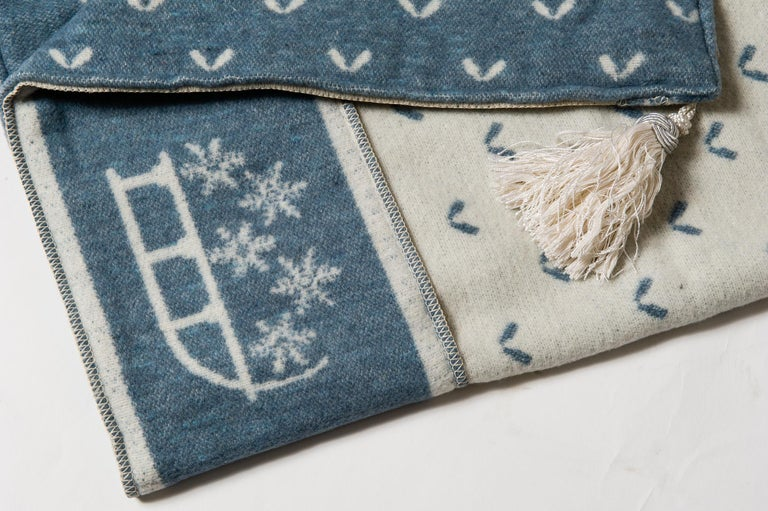Contemporary Swiss Plaid with Mountain Motifs For Sale