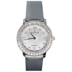 Swiss Pre-Owned Blancpain Self-Winding Automatic Diamond White Gold Ladies Watch