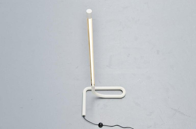 Late 20th Century Swiss Tube Floor Lamp Aldo Nieuwelaar Style, Switzerland, 1970 For Sale