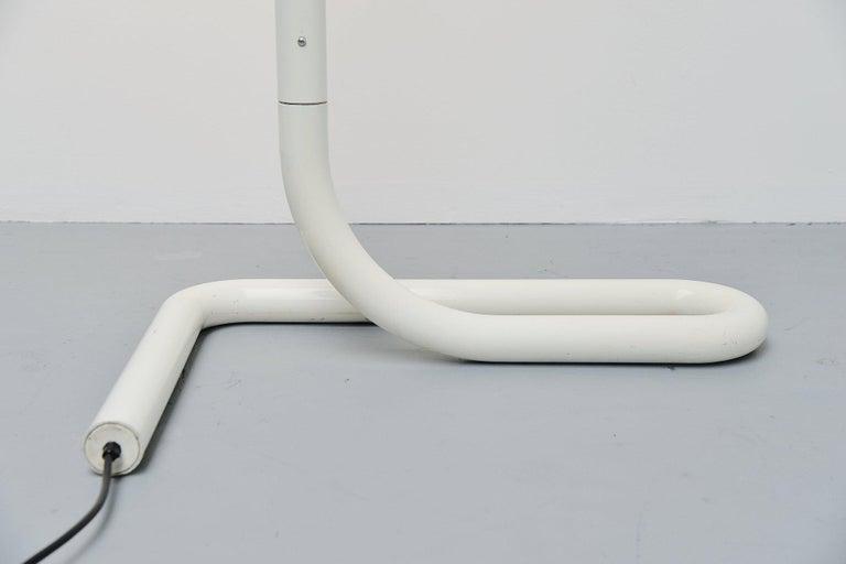 Aluminum Swiss Tube Floor Lamp Aldo Nieuwelaar Style, Switzerland, 1970 For Sale