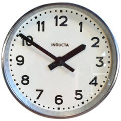 Swiss Vintage Industrial Wall Clock Inducta