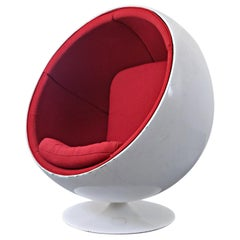 Swivel Ball Chair Attributed to Eero Aarnio