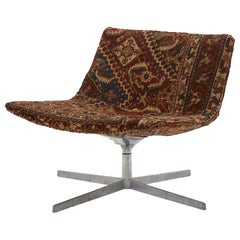Swivel Chair Reupholstered with Vintage Rug