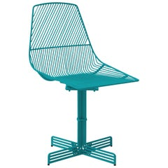 "Swivel Chair ""Swivel Ethel"" in Peacock Blue by Bend Goods"