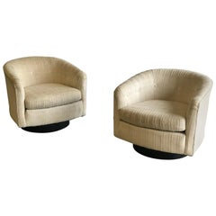 Swivel Chairs in the Style of Milo Baughman