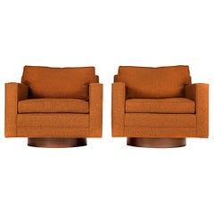Swivel Club Chairs Model 1461 by Harvey Probber