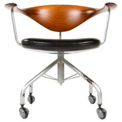 Swivel Desk Chair by Hans J. Wegner for Johannes Hansen