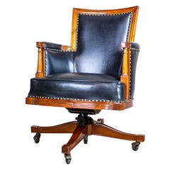 Swivel Desk Chair in the Colonial Type, circa 1990