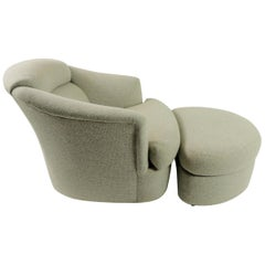 Swivel Lounge Chair and Ottoman by Directional