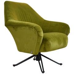 Swivel Lounge Chair by Osvaldo Borsani for Tecno, Italy