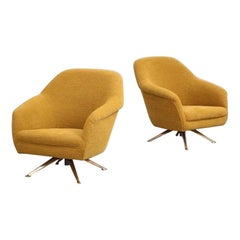Swivel Lounge Chairs by Osvaldo Borsani for ABV