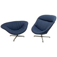 Swivel Lounge Chairs 'Man & Woman' Rudolf Wolf, Rohe Nordwolde