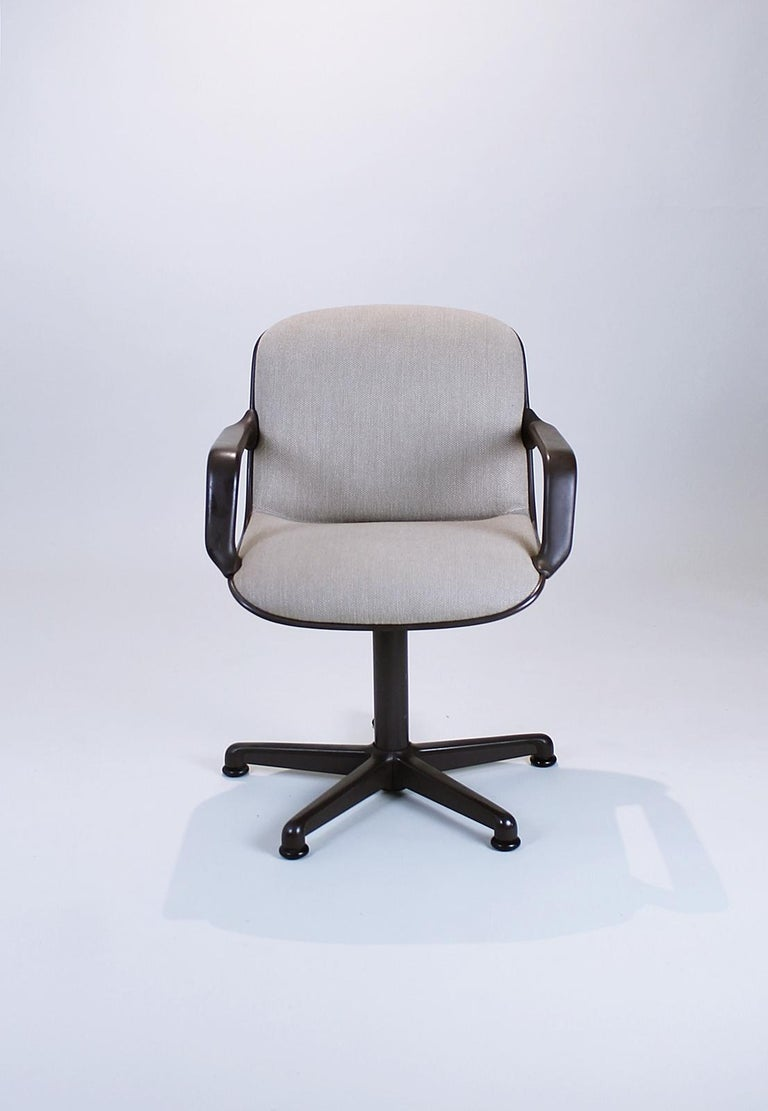 Steel Swivel Office Chair by Charles Pollock for Comforto, 1980s