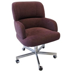 Swivel Tilt Office Chair in Purple Fabric by Fortress Co California