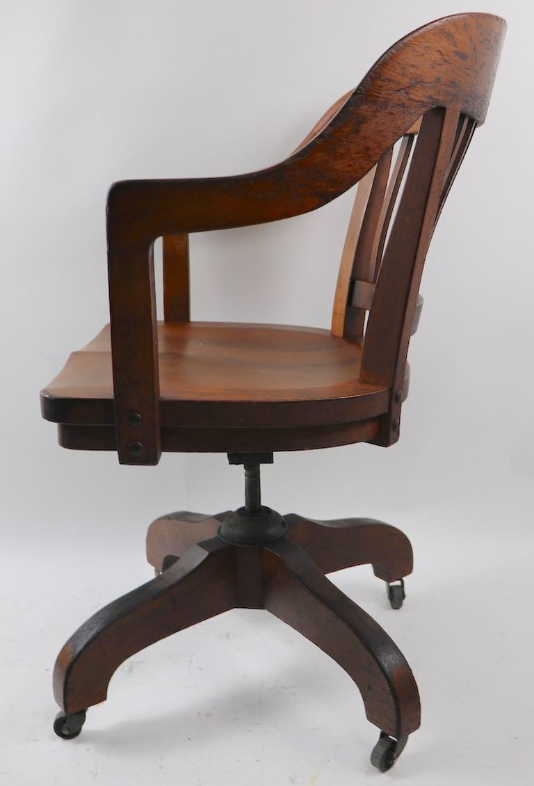 Excellent Swivel Tilt Yale Library Bank Of England Walnut Desk Office Chair Ocoug Best Dining Table And Chair Ideas Images Ocougorg